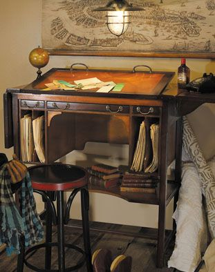 Drafting Table Bureau Architecte Tall Authentic Models In Antiques,  Reproduction Antiques