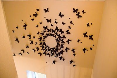 DIY wall art from cardstock. wow, I have to do this somewhere in the house.