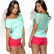 Mint green fishnet mesh back boxy tee bangladesh wholesale   best buy follow this link http://shopingayo.space