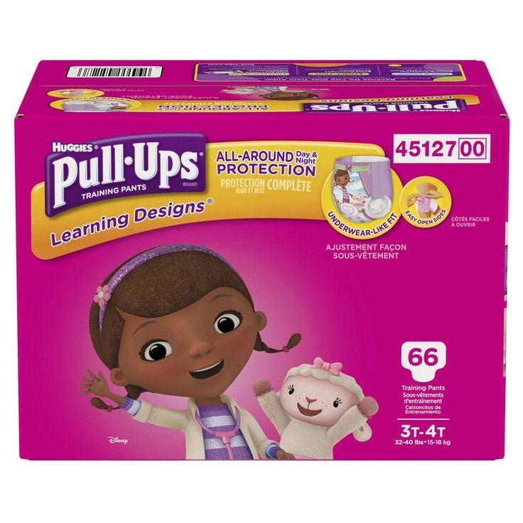 Huggies Pull-Ups Girls Learning Designs Training Pants Giga Pack 3T-4T (66 ct)