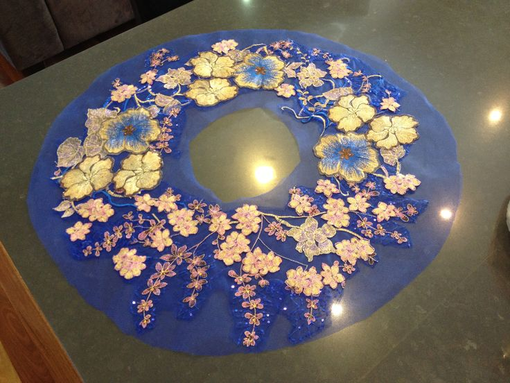 tutu. plate. blue. gold. Made by Helen shawsmith                                                                                                                                                                                 More
