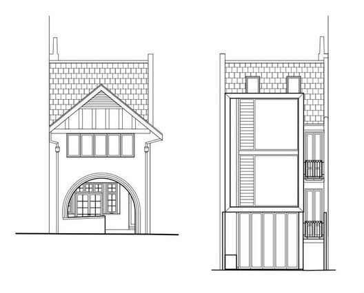Tusculum Residence,elevations