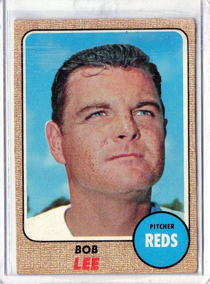 1968 topps bob lee cincinnati reds cincinnati reds