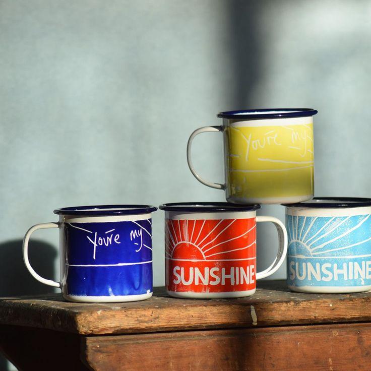 You're My Sunshine Enamel Mugs