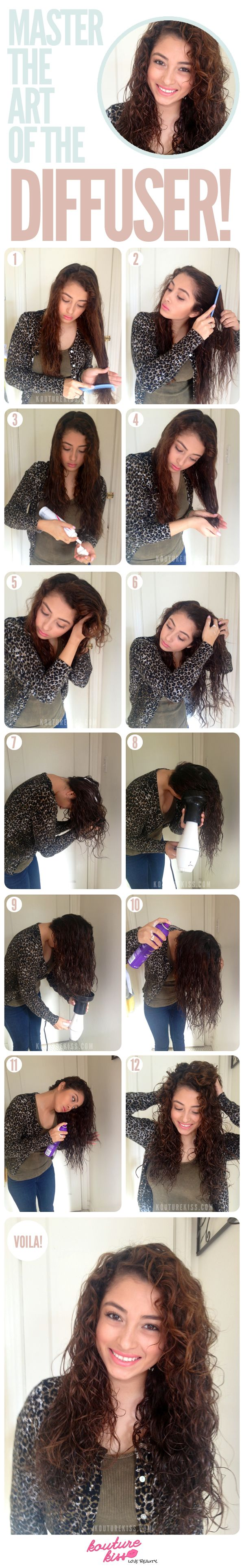 Hey There, Curly-haired Girl! Master The Art Of The Diffuser