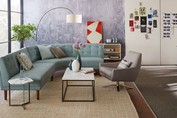 Rounded Retro Sectional - Sofas - West Elm Workspace