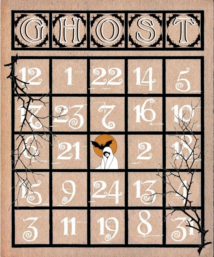 Artistic Hen: Free Halloween Bingo Cards to Download - Part 3 - This blog has seven different Halloween BINGO cards to print and use in your crafting. (To see all cards available, see all three parts of this post.)