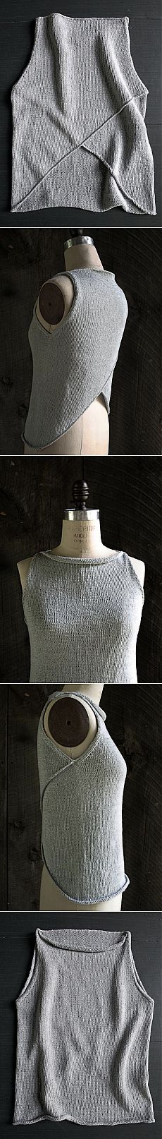 Laura's Loop: Tulip Tank Top - The Purl Bee - Knitting Crochet Sewing Embroidery Crafts Patterns and Ideas!