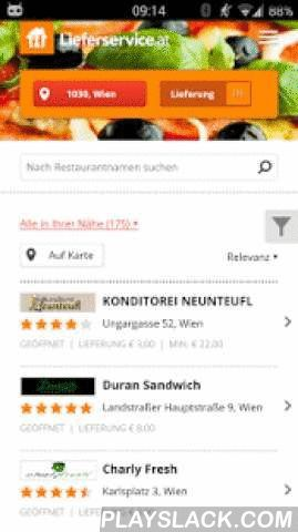 Lieferservice.at  Android App - playslack.com ,  Order food online with your Android smartphone or tablet using the Lieferservice.at app. Super easy!Want to order a tasty pizza, salad, burger or kebab? Our app lets you order the best dishes from 1500+ restaurants accross the Austria, including Schnitzelhaus, Pizza Mann, Snack Attack, Pizza on Tour, Hollywood Pizza Service and many more. Craving Chinese, Indian, Italian or Greek food? You'll be spoilt for choice! Restaurants usually take…