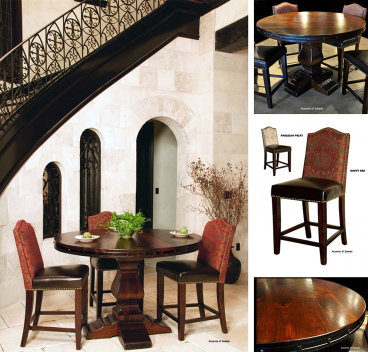 pub gathering tables at accents of salado tuscan decor dining room pinterest chairs the o. Black Bedroom Furniture Sets. Home Design Ideas