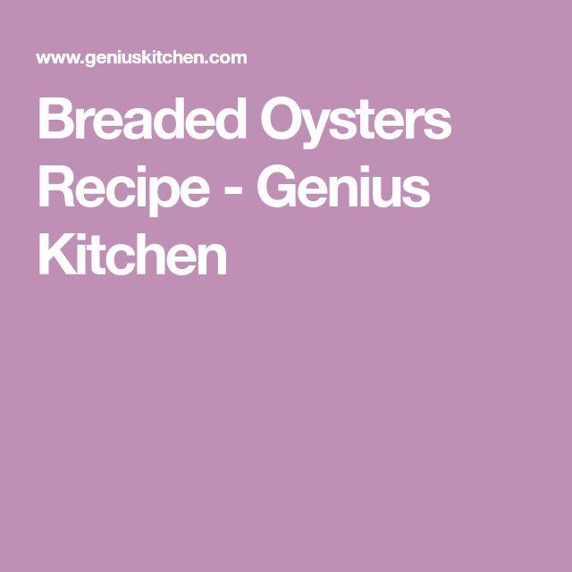 Breaded Oysters Recipe - Genius Kitchen