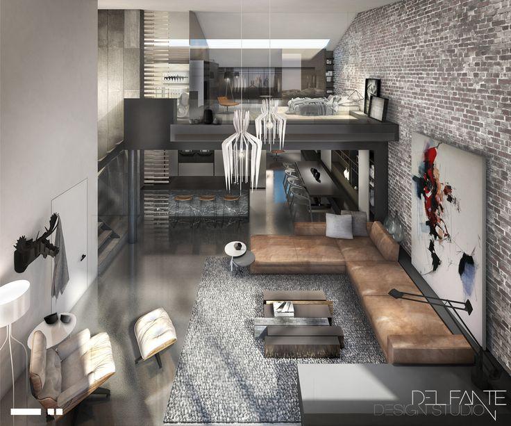 © Del Fante Design Studio | Architecture + Interiors | Alterations & Additions in De Waterkant Cape Town | Industrial Chic Loft Apartment Interior