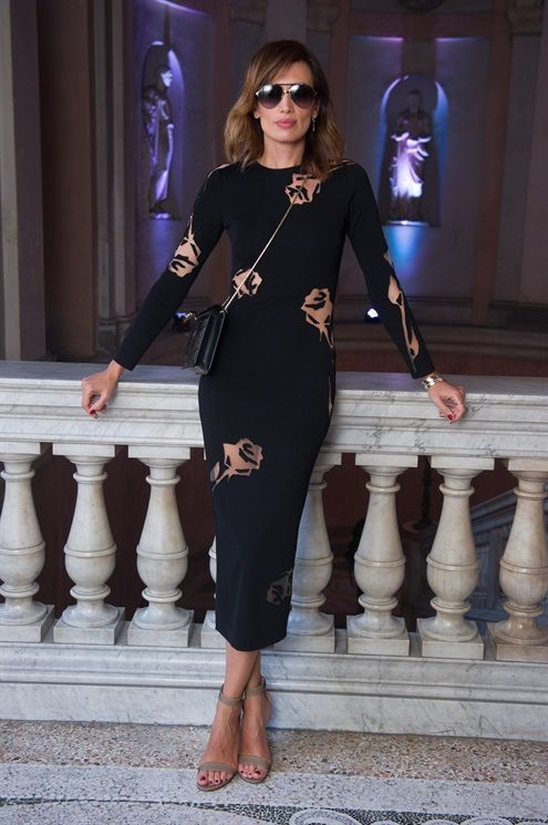 NIEVES ALVAREZ - Blumarine SS17 Front Row: Settimana della Moda di Milano, le star - Vogue.it