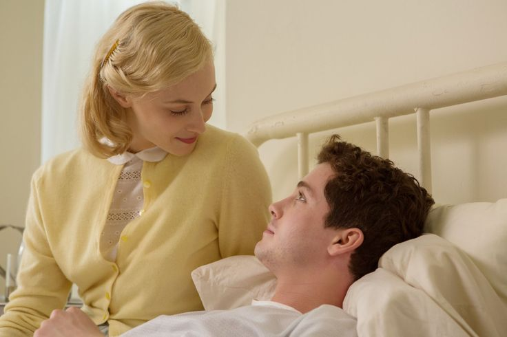 Sarah Gadon and Logan Lerman in Indignation