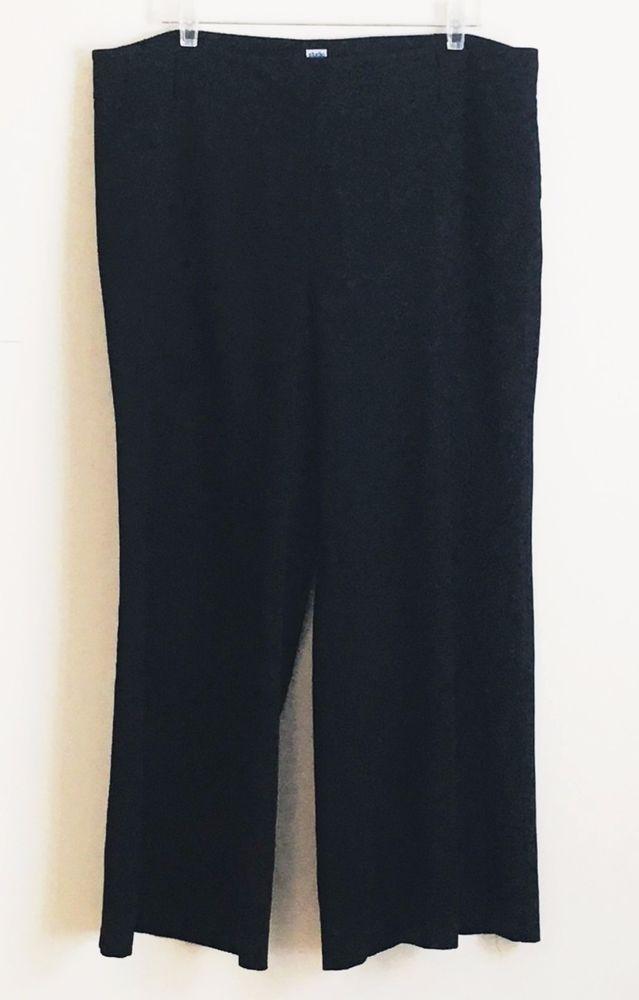Studio 1940 Wide Straight Leg Palazzo Dress Pants Trousers Black 18W Stretch #Studio1940 #DressPants #WearToWork