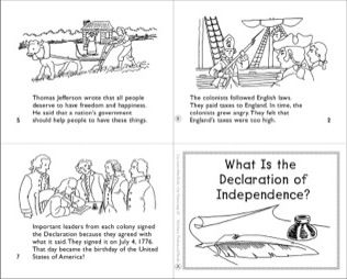 3rd GRADE: What Is the Declaration of Independence? Mini-Book