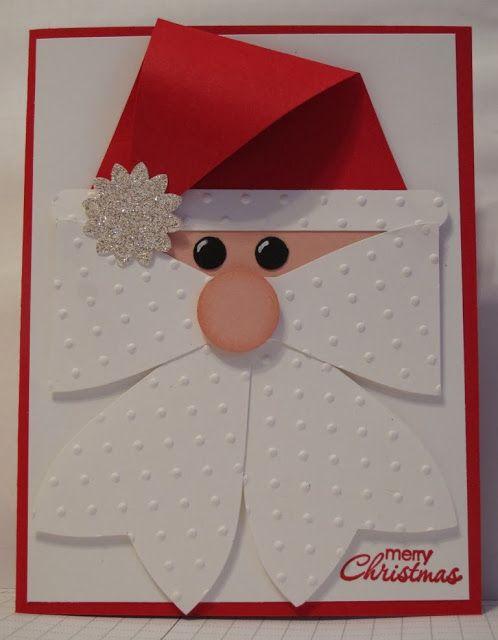 In My Craft Room: Santa Head - Gift Bow Die cased