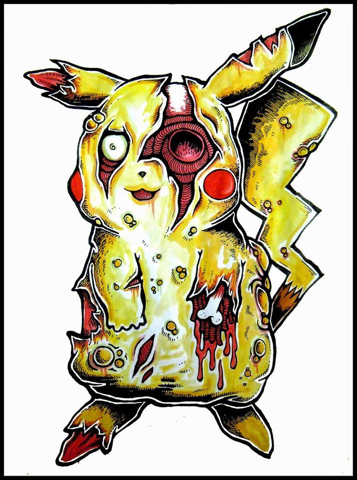 Zombie Pikachu I LOVE FALL in 2019 New zombie