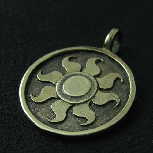 Bronze Celestia's Sun pendant