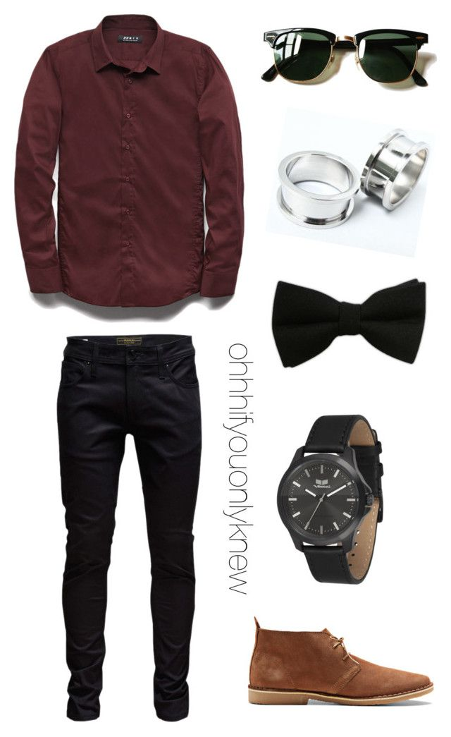 """Untitled #238"" by ohhhifyouonlyknew ❤ liked on Polyvore featuring 21 Men, Jack & Jones, Ray-Ban and Vestal"