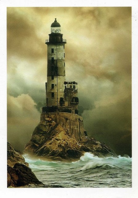 Aniva Lighthouse, Sakhalin, Sea of Okhotsk, Russia