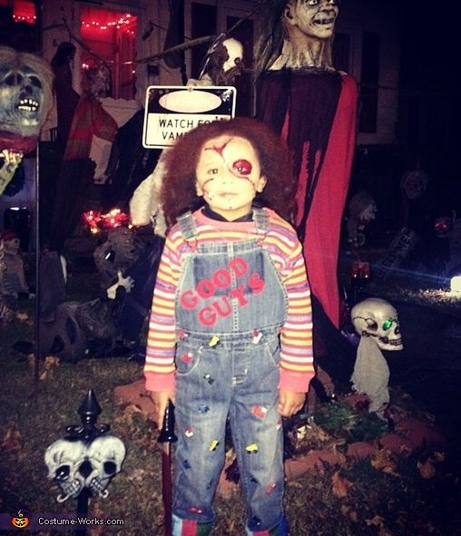 Natalie: This year I decided to dress my son up as chucky. He loves horror films. I couldnt find a toddler chucky costume so I decided to create my own! I...