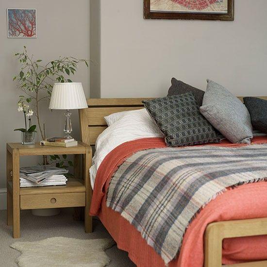 Koralle und Grau Schlafzimmer Wohnideen Living Ideas