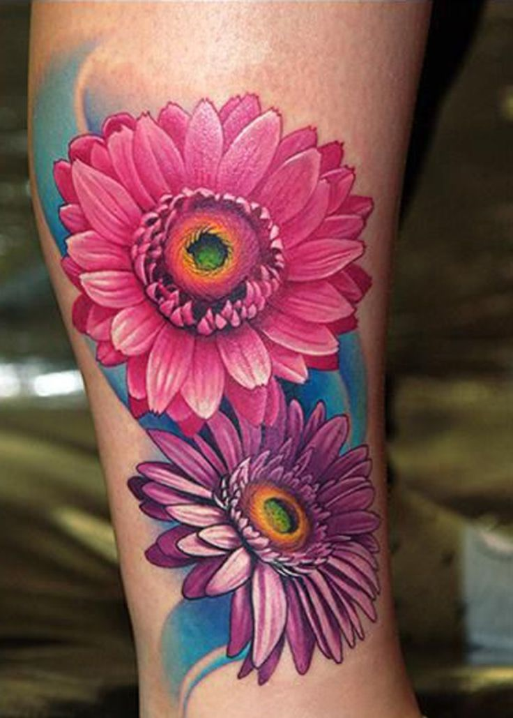 best  gerbera daisy tattoo ideas only on   small, Natural flower