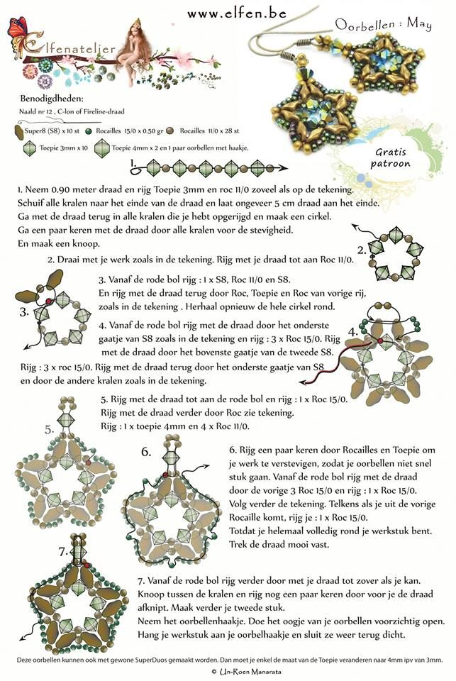 20 best Jewelry patterns Elfenatelier images on Pinterest Beads - free bol