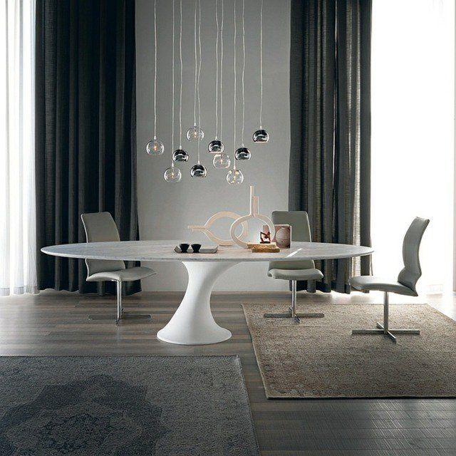 Table de salle manger ronde pied central par cattelan for Table de salle a manger pied central