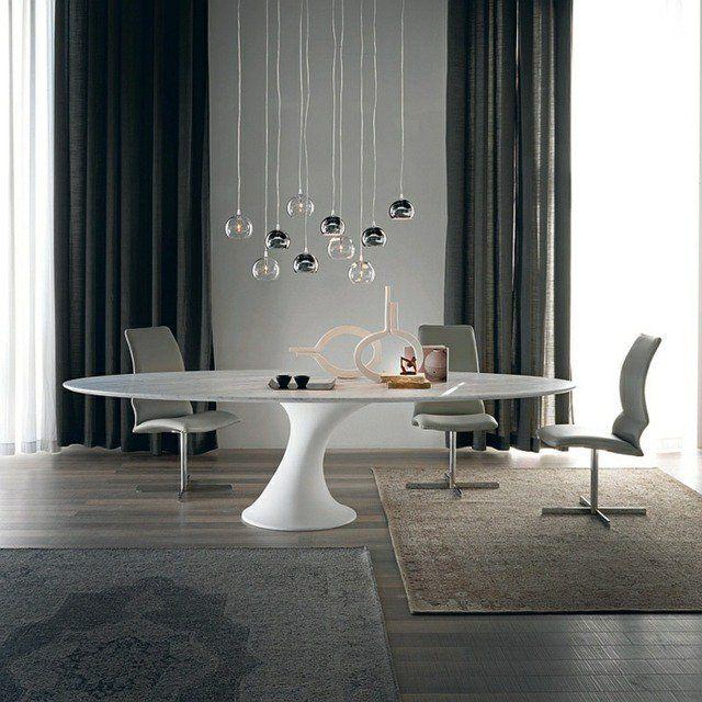 Les 25 meilleures id es concernant table ovale sur for Table salle a manger design pied central