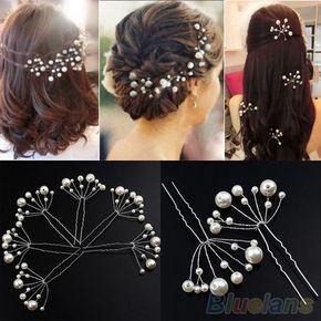 Mode Neue Hochzeit Braut-brautjungfern-perlen-haar-stifte Clips Comb Stirnband 2JXR