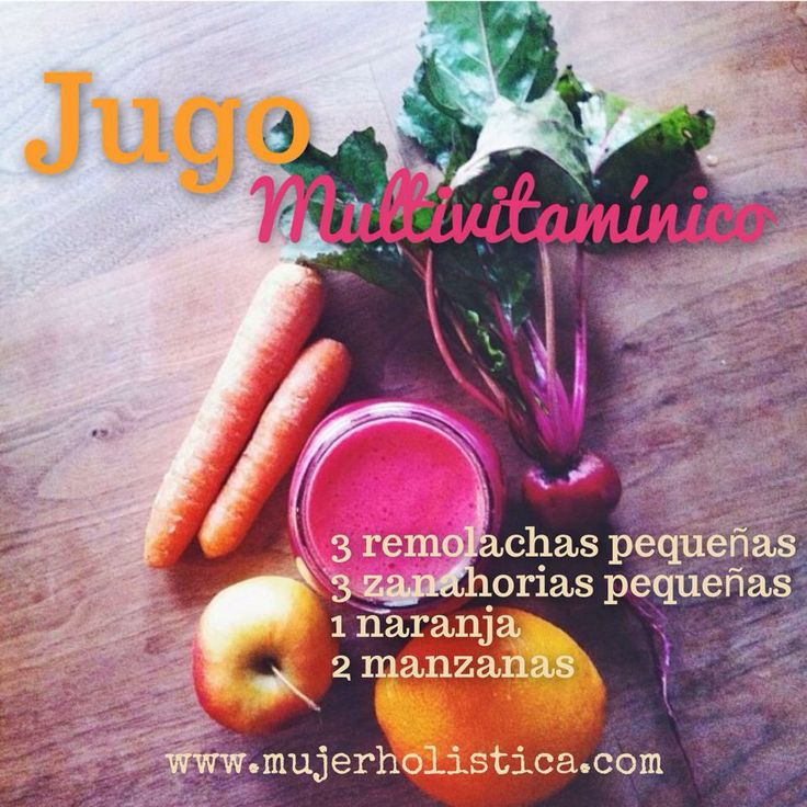 Jugo Detox Multivitaminico zanahoria, remolacha, naranja, manzana
