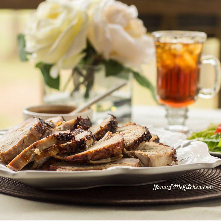 Greek Style Roasted Pork Tenderloin combines oregano, cooking wine, and garlic to create a unique mediterranean style flavor