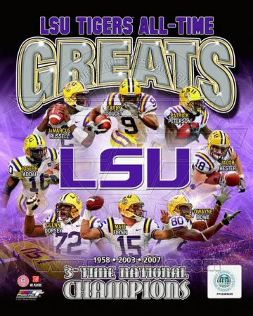 Louisiana State University Tigers All Time Greats Composite