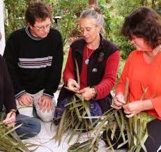 Cómo tejer con hojas de palma?
