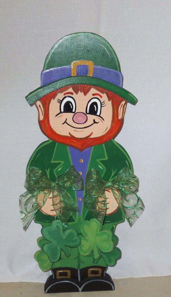 St. Patrick's Day Little Leprechaun Wood Yard Art by chardoman, $50.00