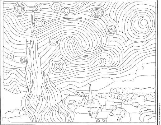 Starry Night Template | Crafty | Pinterest