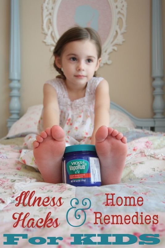 Like Mom and Apple Pie: Illness Hacks & Home Remedies…for KIDS!- surviving cold and flu season  COUGH & Congestion- add Vicks Vaporub to feet, and cover with socks at bedtime to relieve nighttime cough