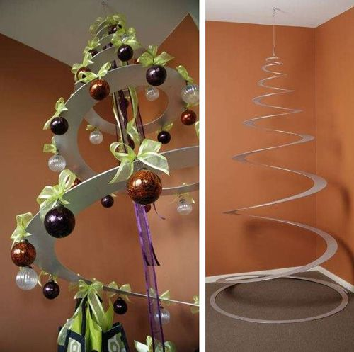 A great idea...spiral tree for someone with allergies, who doesn't like artificial, and wants to be cool and different!