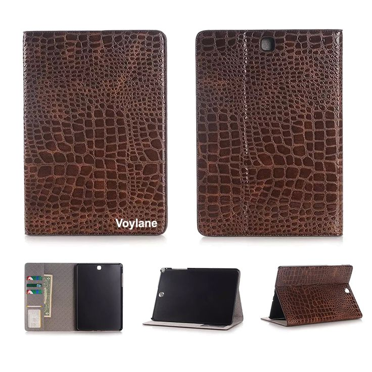 For SAMSUNG Galaxy tab s2 9.7 Crocodile PU protective case for samsung tab s2 9.7 t810 high quality cover