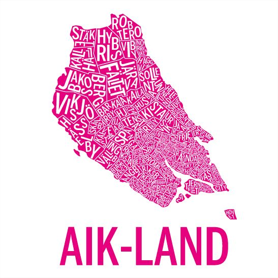 AIK-land i färgen rosa