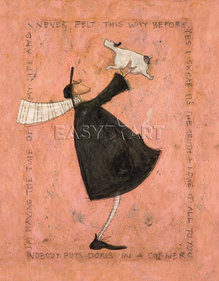 new having the time of my life sam toft print