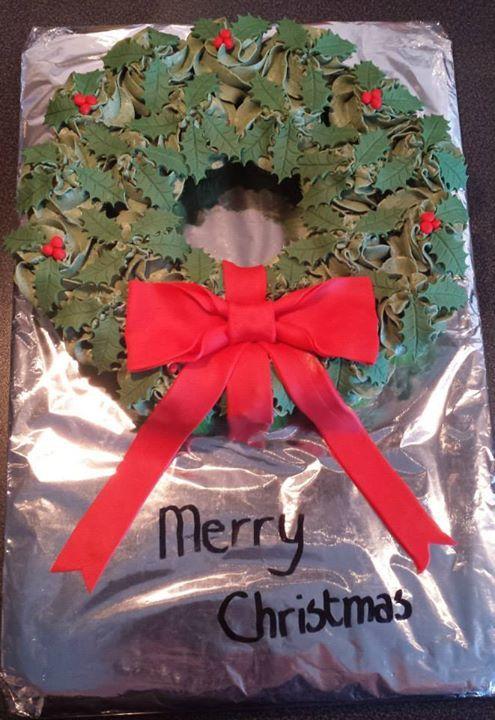 Cupcakes kerstkrans