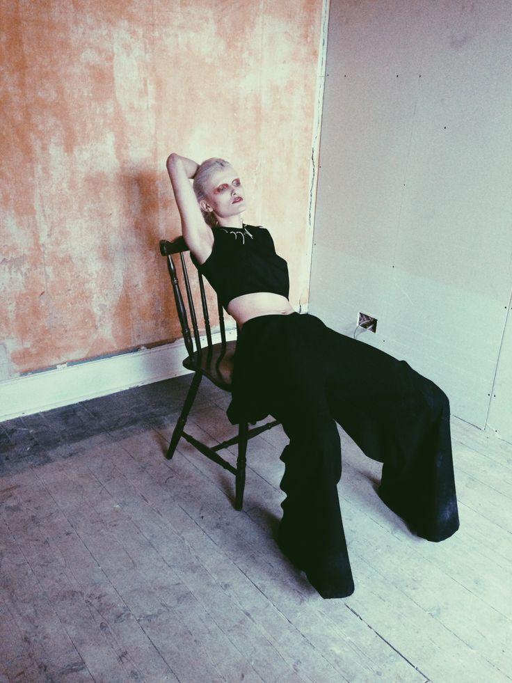 Kimono Trousers and Crop Top | Freya Edmondson Model | Nicola Joy Smith Behind the scenes on shoot with Genoveva Arteaga-Rynn