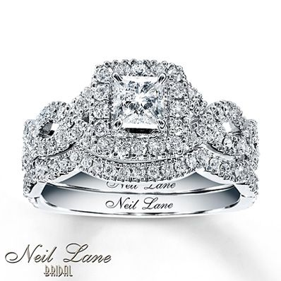 This is probably my absolute favorite! (hint hint) Neil Lane Bridal Set 1 1/6 ct tw Diamonds 14K White Gold (size 5)
