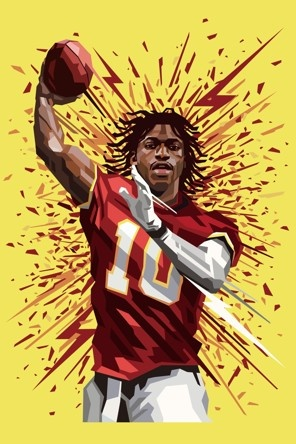 Redskins | Bob Griffin - Art by Tadaomi Shibuya: Griffin Iii, Robert Griffin, Washington Redskins, Post, Football, Sports, Favorite, Rgiii