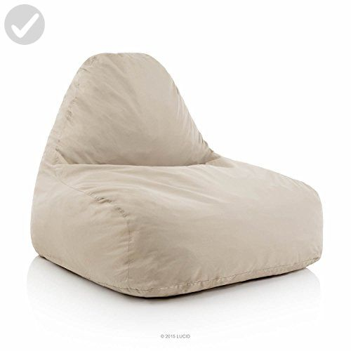 Lucid Oversized Shredded Foam Lounge Chair Khaki
