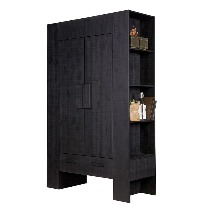 HIDDE SCANDINAVIAN STORAGE CABINET in Black   Solid Pine   Storage   Chunky Furniture   Flat Pack