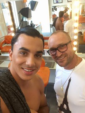 Make-Up Mansion  (August 14 2015) Today in the Mansion / Timor Steffens' fotoshoot with  Jasper Suyk